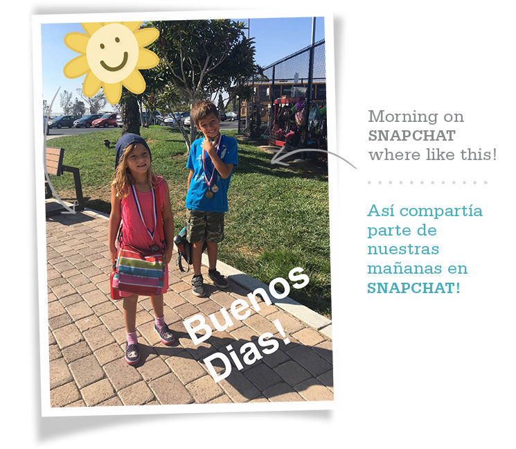Snapchat sharing on days of summer camp -MamiTalks.com