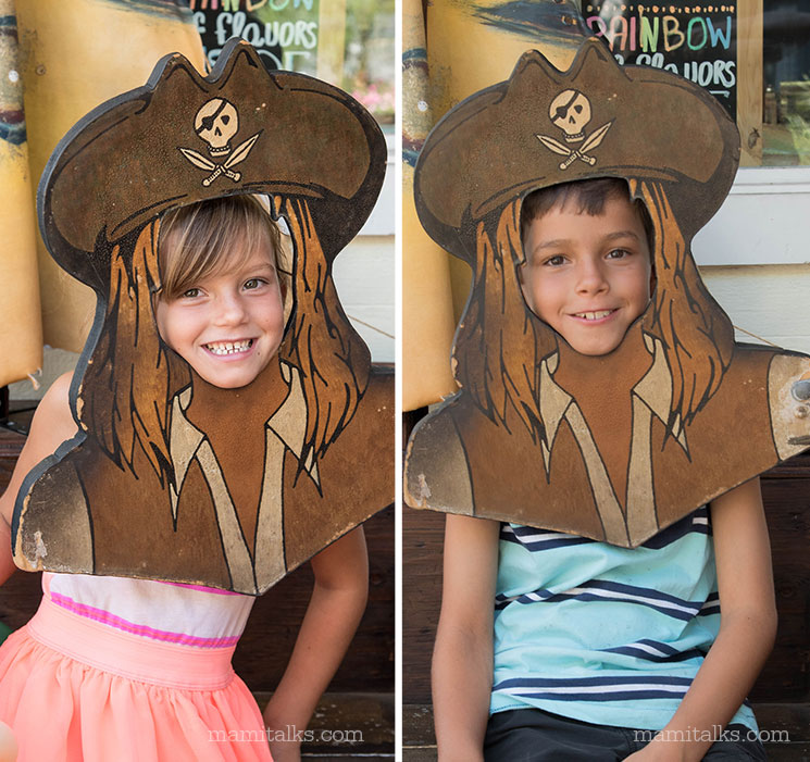 Pirate masks at Seaport Village San Diego -MamiTalks.com