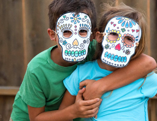 Printable sugar skull masks MamiTalks.com