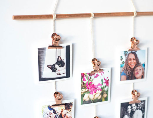 DIY Photo Wall Display. Make your own!