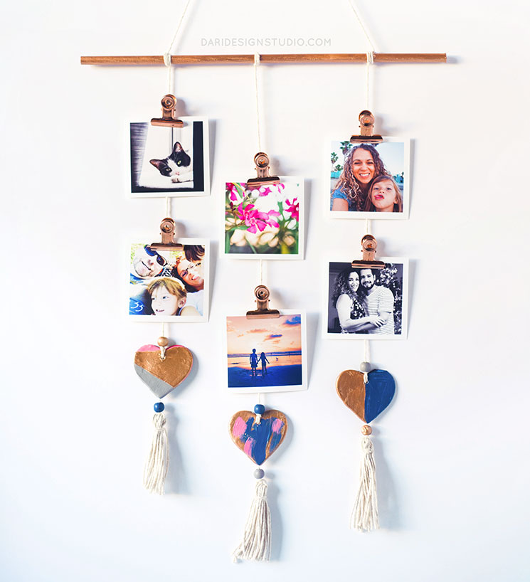 DIY Photo Wall Display Mobile. Learn how to make your own!
