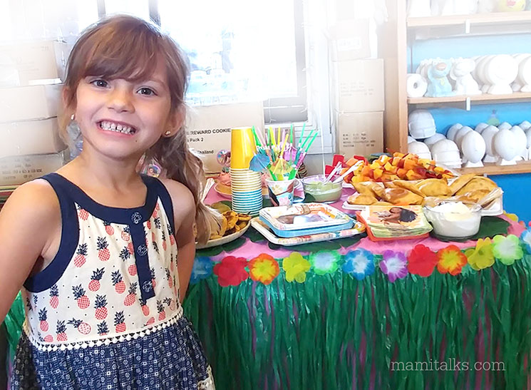 Maya is seven, ideas for a Moana party -MamiTalks.com