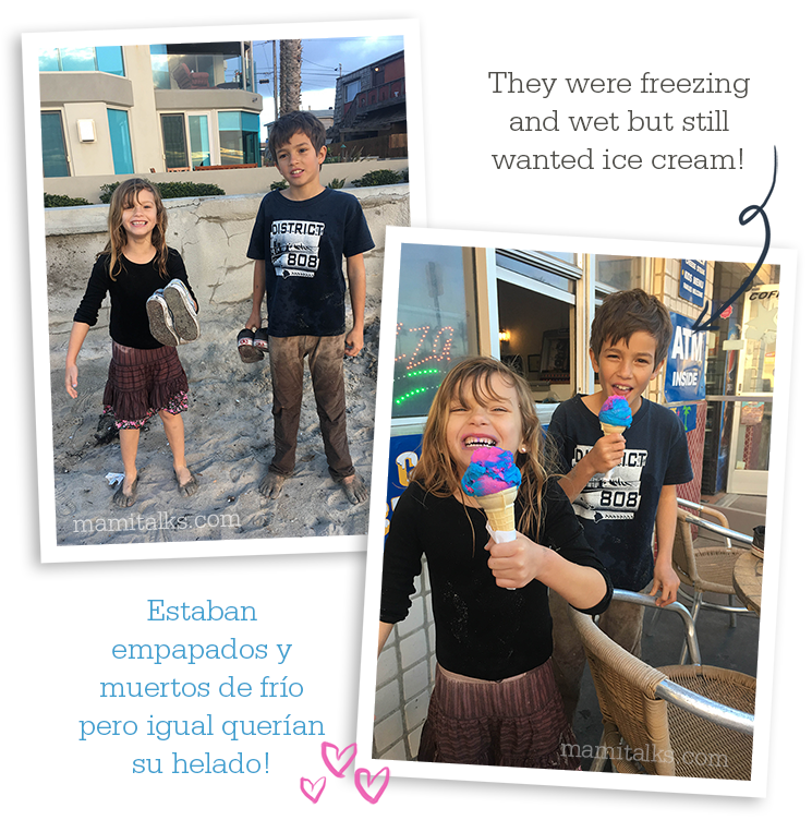 Different ways to enjoy the beach in San Diego: Mission Beach Ice Cream -MamiTalks.com