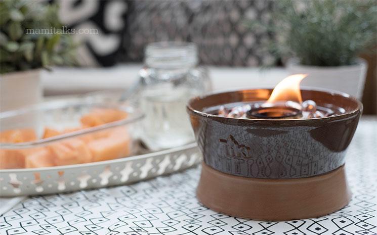 Tiki brand Ceramic firepiece -MamiTalks.com