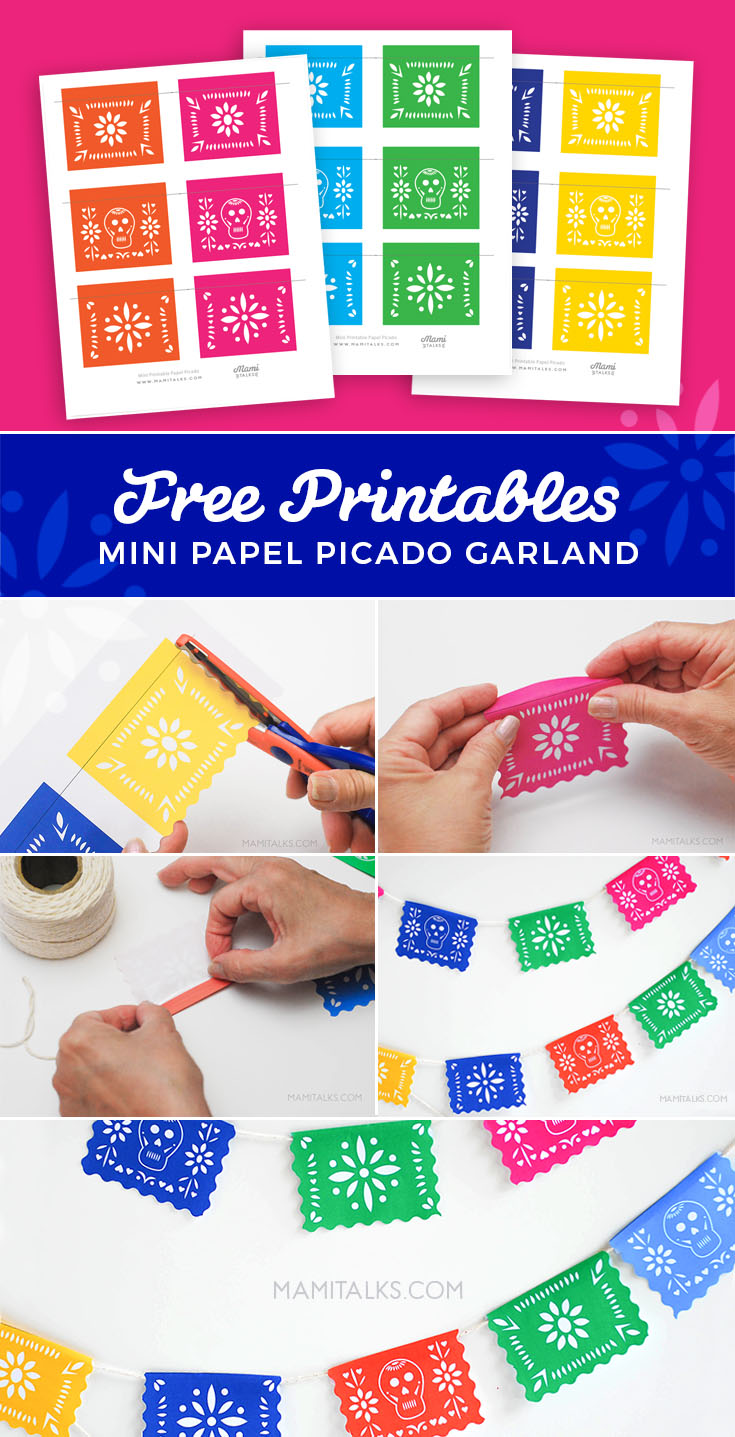 "photo relating to Papel Picado Printable known as PIN-free of charge-mini-printable-papel-picado-mamitalks - Mami Talksâ""¢"