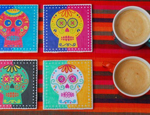 Día de los Muertos Coasters DIY -MamiTalks.com