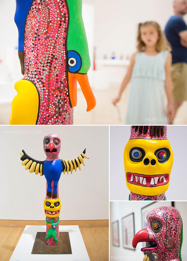 Niki De Saint Phalle exhibit with family -MamiTalks.com