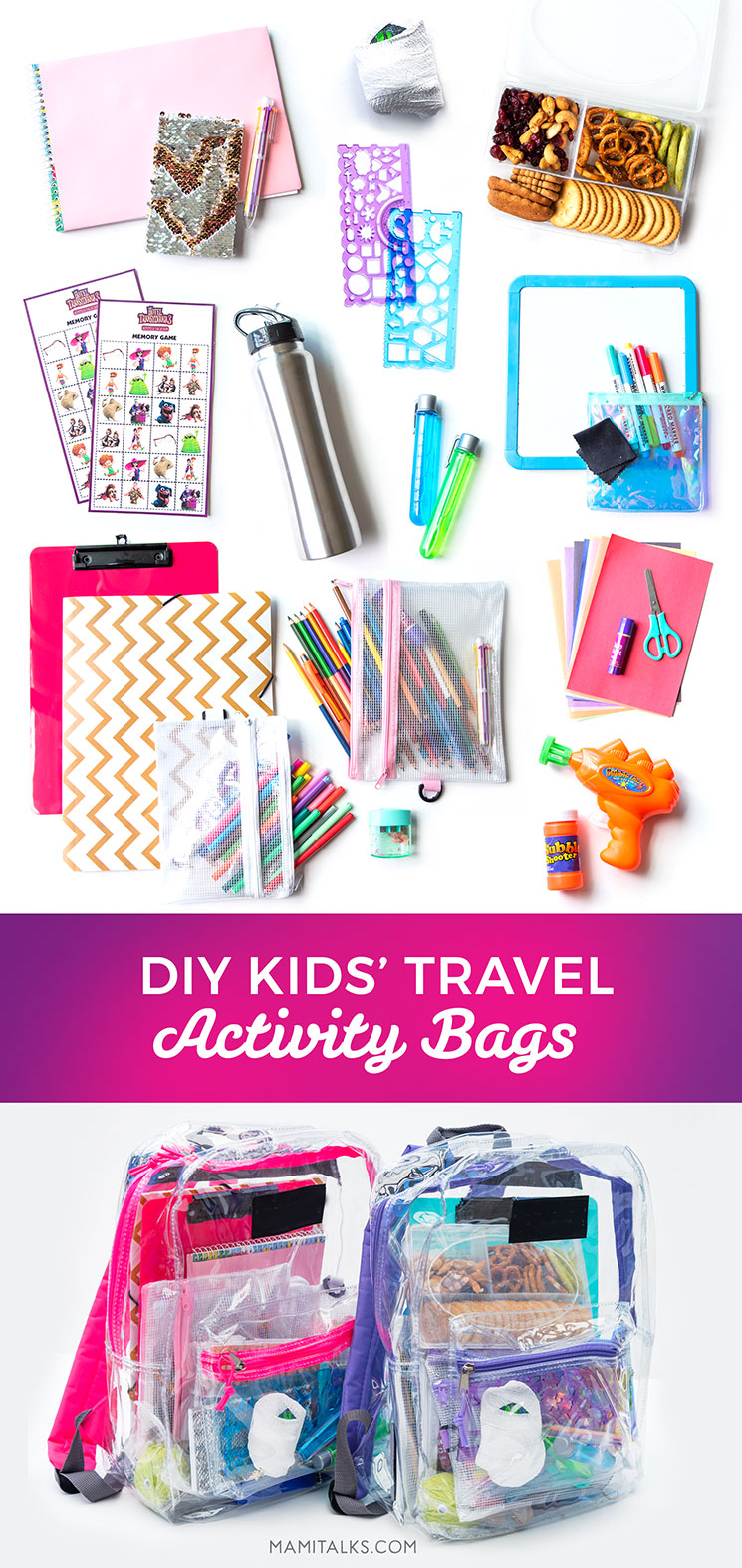 DIY KIDS' TRAVEL ACTIVITY BAG -MamiTalks.com