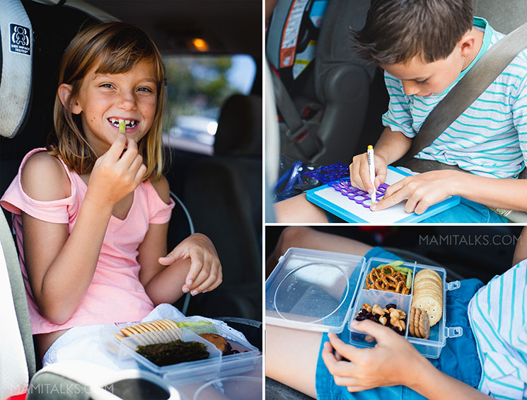 Kids doing activities while traveling in the car -MamiTalks.com