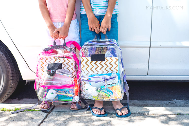 DIY KIDS' TRAVEL ACTIVITY BAG, transparent backpacks-MamiTalks.com