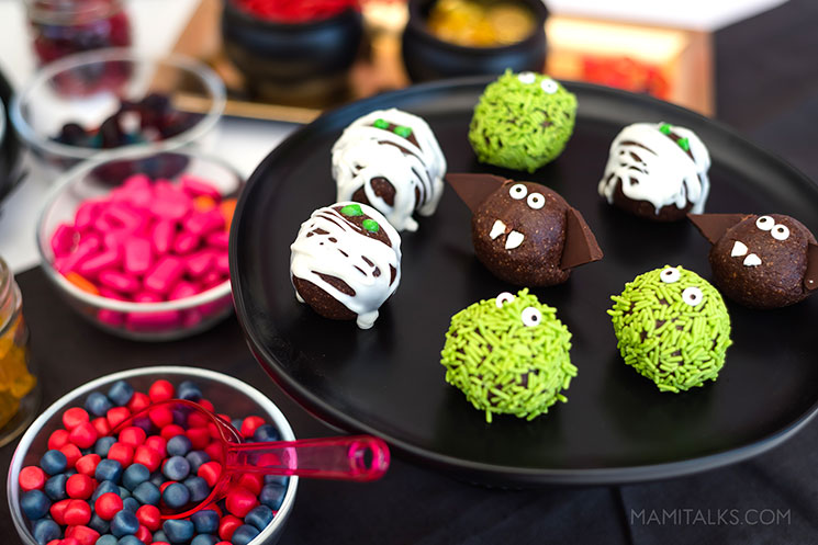 Monster energy balls for halloween