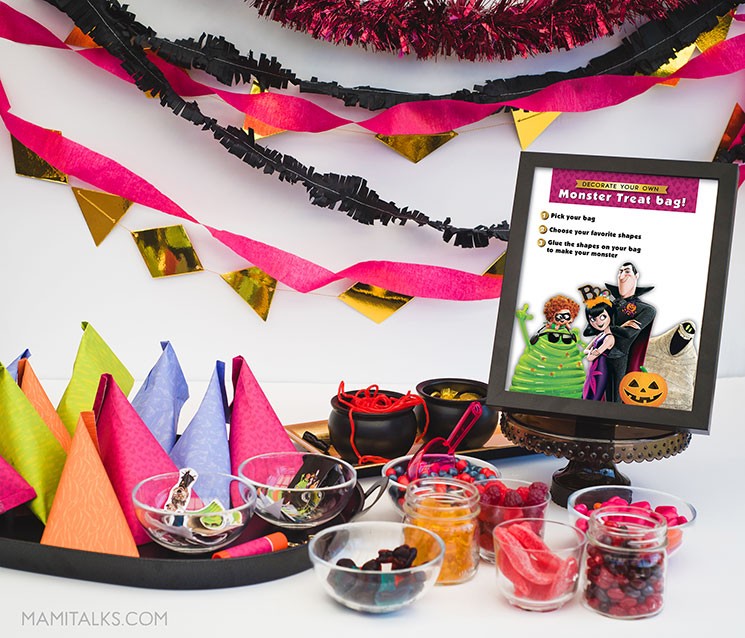 Halloween Monster party ideas, table set-up.