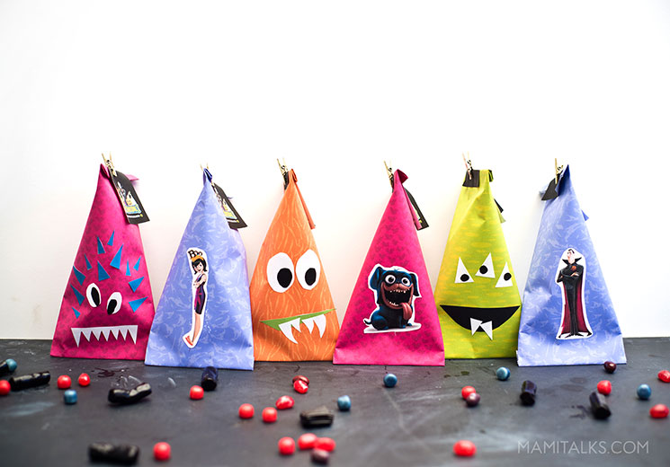 Fun Halloween treat bag printables, bags already made.