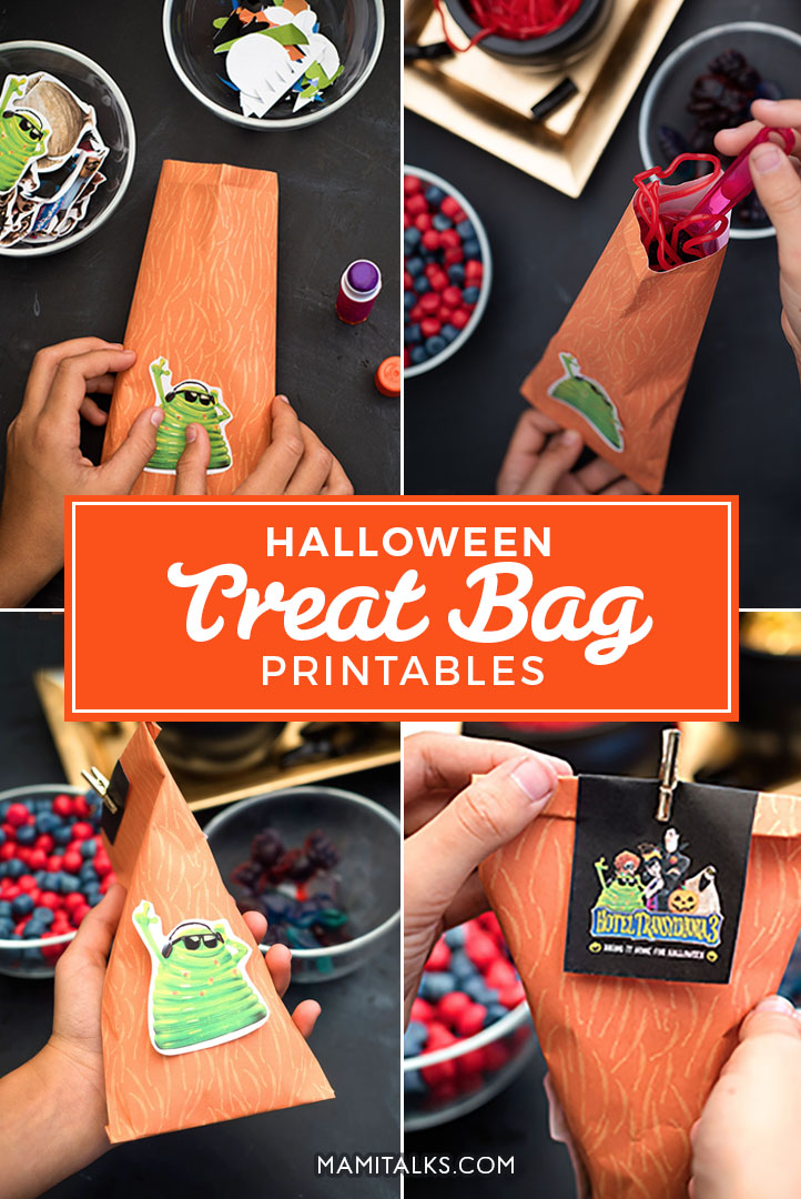 Halloween treat bag printables collage