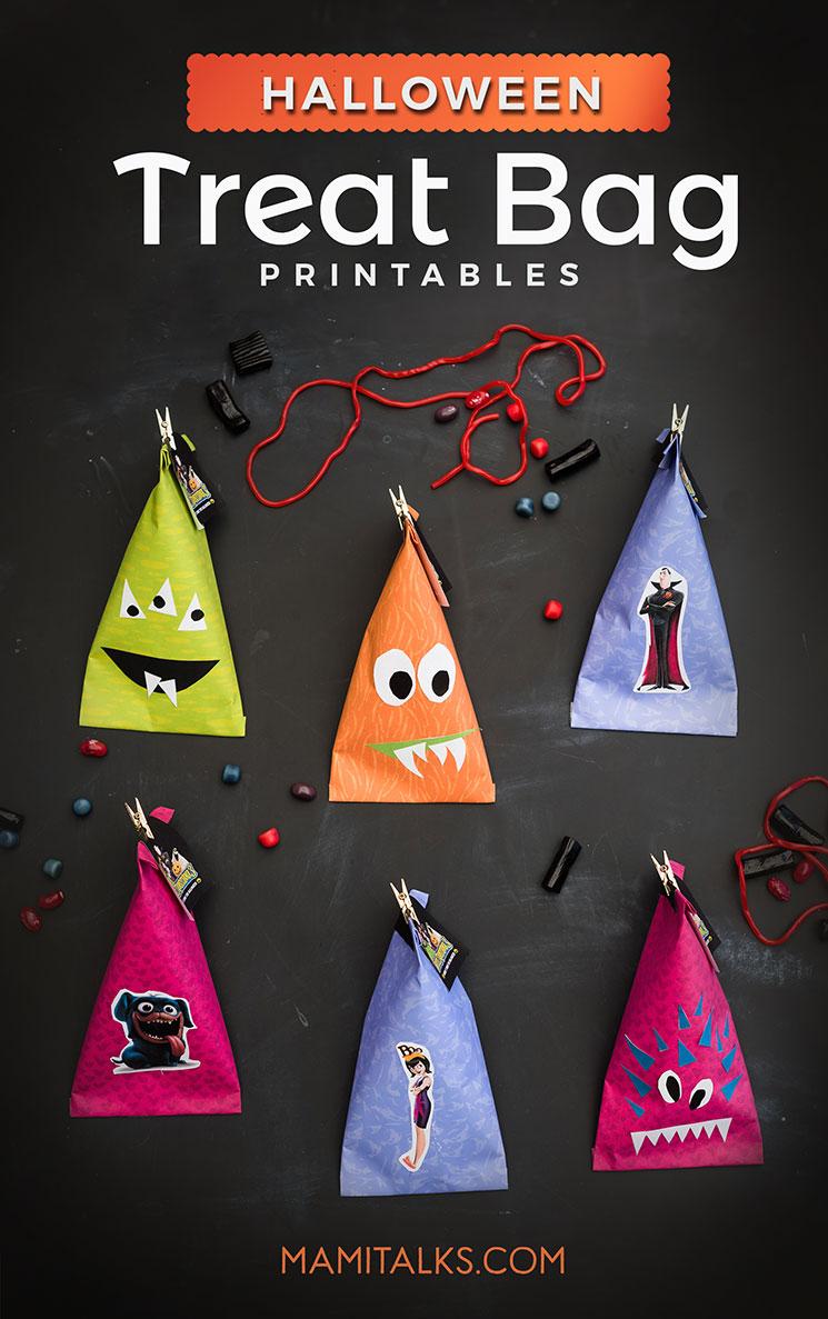 Halloween Monster treat bag printables