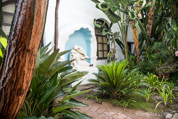 Pieta sculpture at Mission San Diego Alcalá