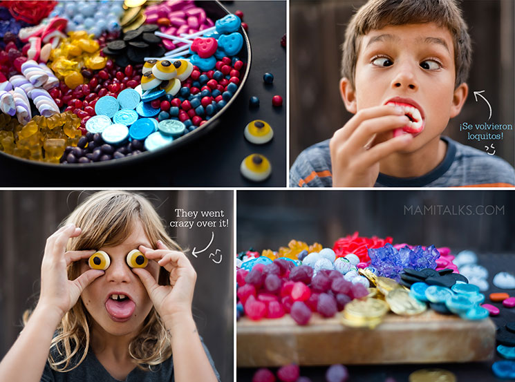 Kids going crazy over candy. -MamiTalks.com