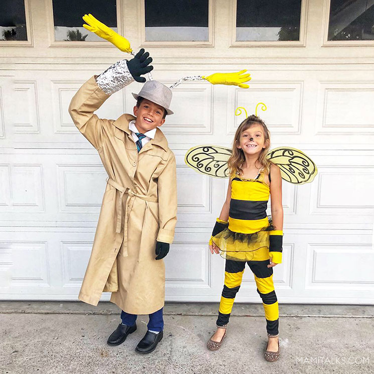 Inspector Gadget costume and Bee costume. -MamiTalks.com