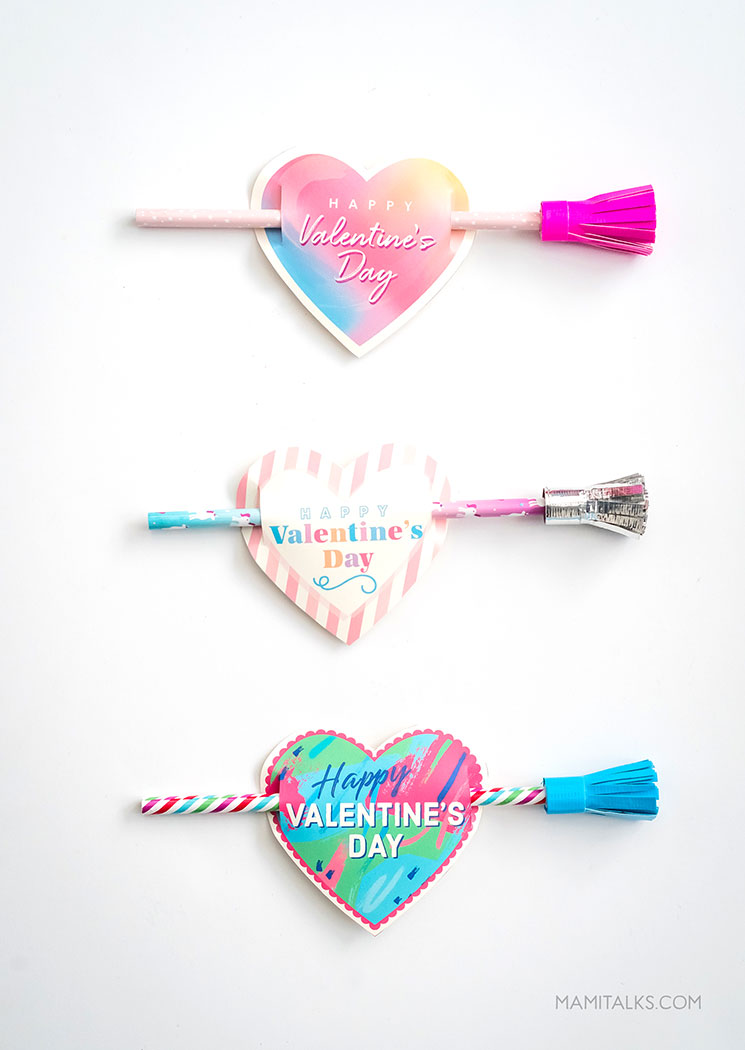 Valentine Pencil Printables -MamiTalks.com