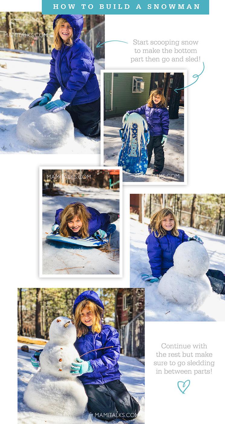 How to build a snowman -mamitalks.com