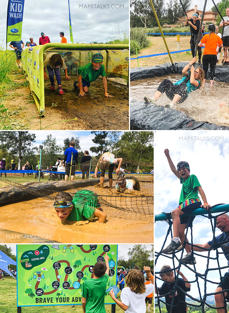 Family obstacle challenge collage. mamitalks.com