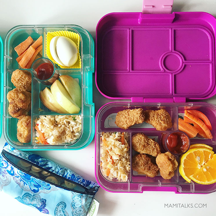 Vegetarian lunchbox for kids. -MamiTalks.com