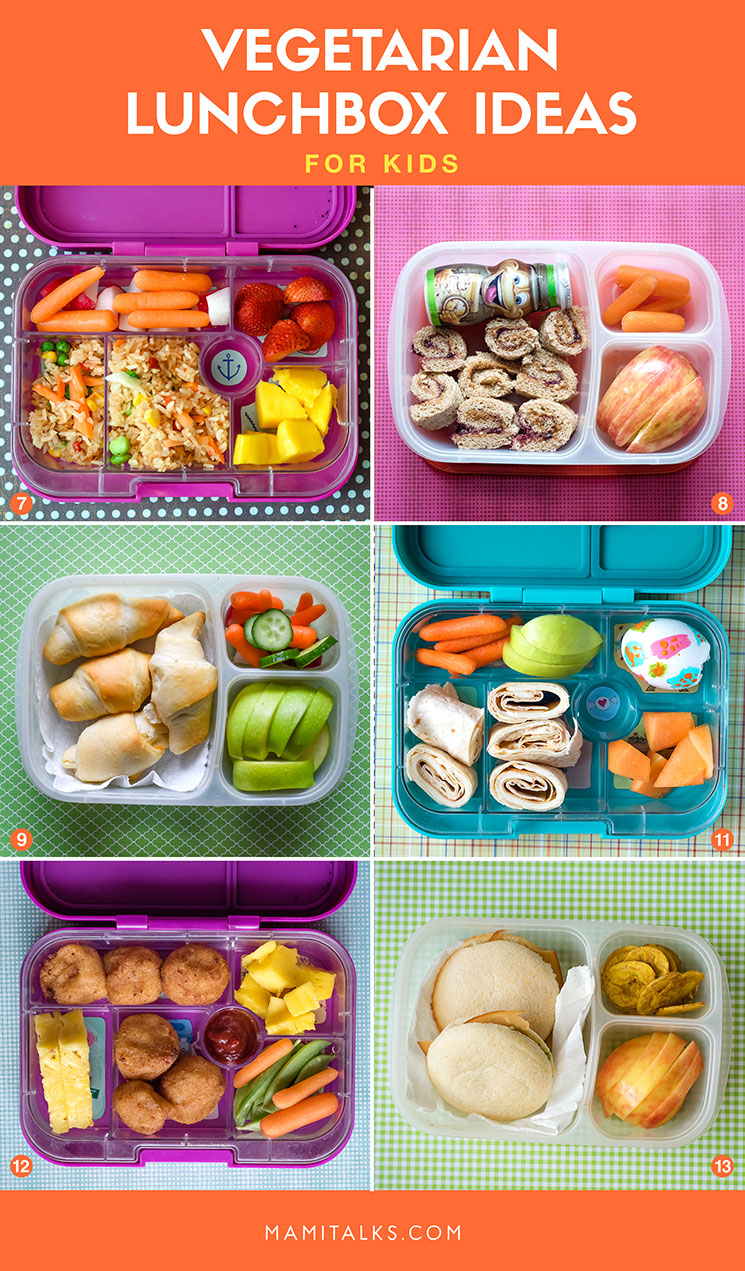 Vegetarian lunchbox ideas for kids -Mamitalks.com