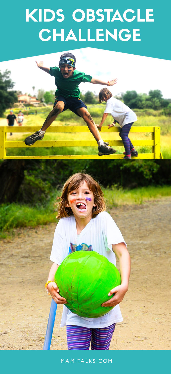 Kids during obstacle challenge race. MamiTalks.com