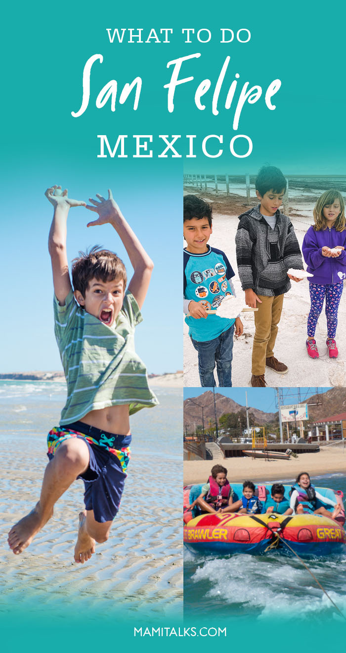 Collage of activities to do in San Felipe, Mexico. MamiTalks.com