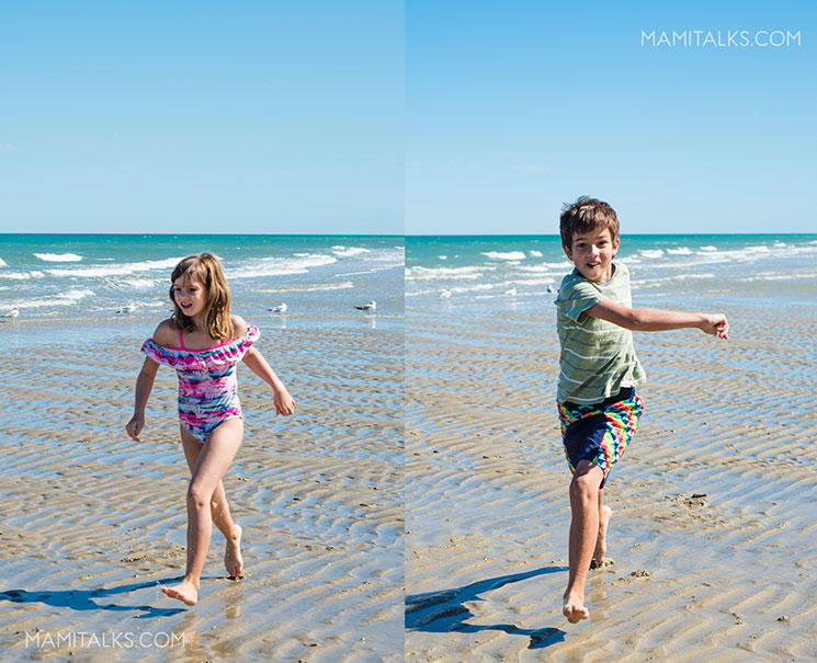 San Felipe beach, girl and boy having fun. MamiTalks.com