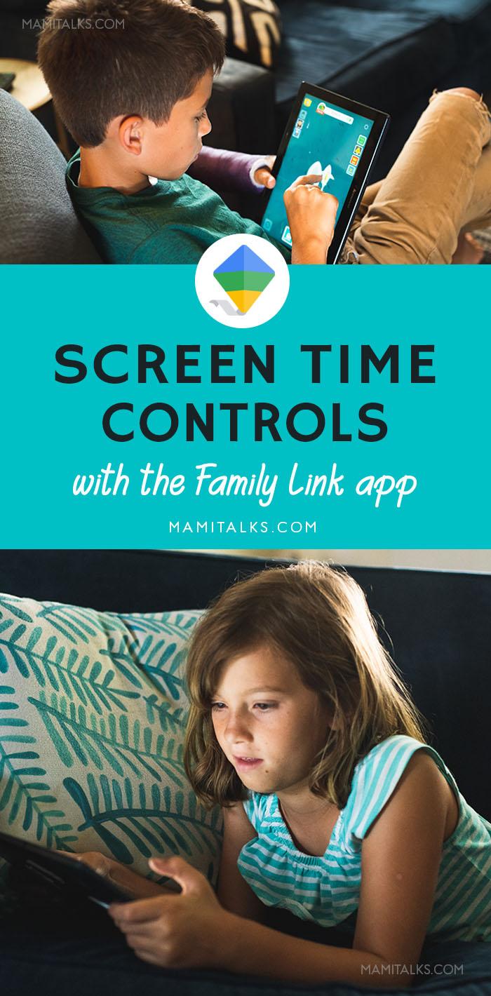 Niño y niña usando sus tabletas electrónicas, imágen para Pinterest. MamiTalks.com