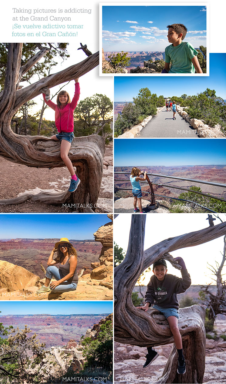 Grand Canyon collage pictures of family. -MamiTalks.com