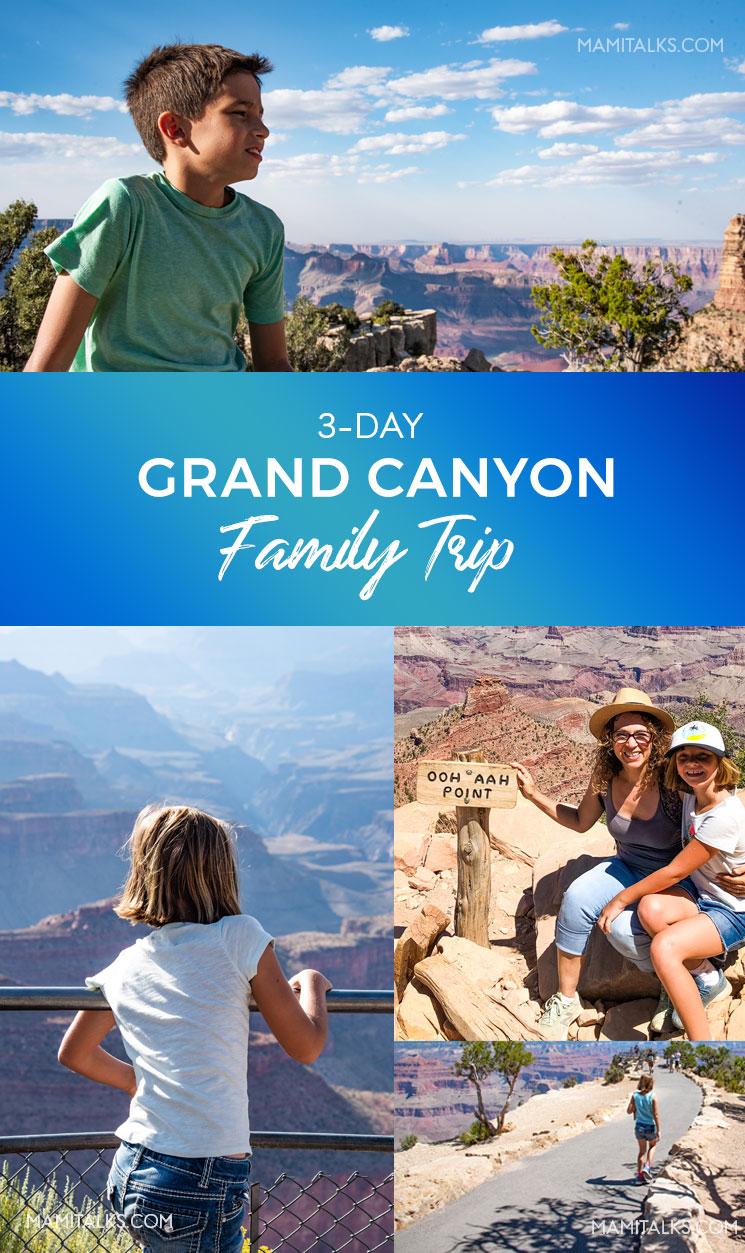 Kids enjoying the views of the Grand Canyon, South Rim. -MamiTalks.com