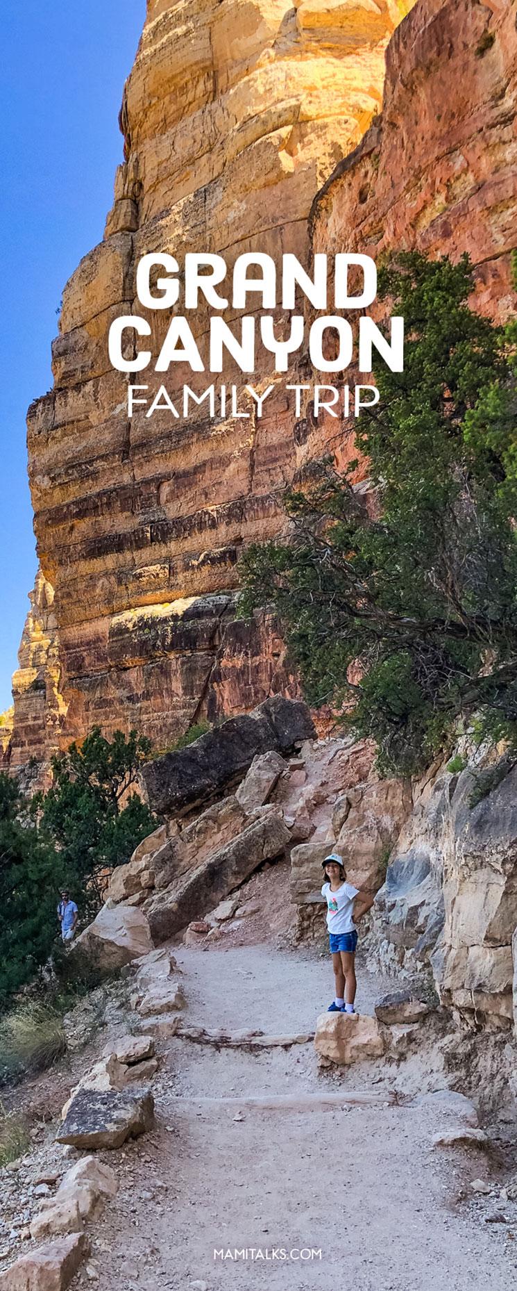 Grand Canyon hike South Rim, little girl hiking. -MamiTalks.com