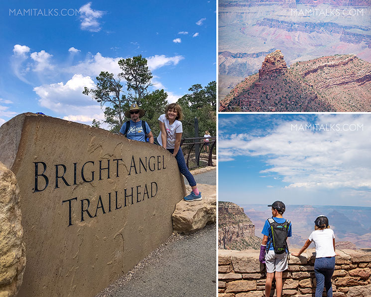Grand Canyon views, girls and boy looking out. -MamiTalks.com
