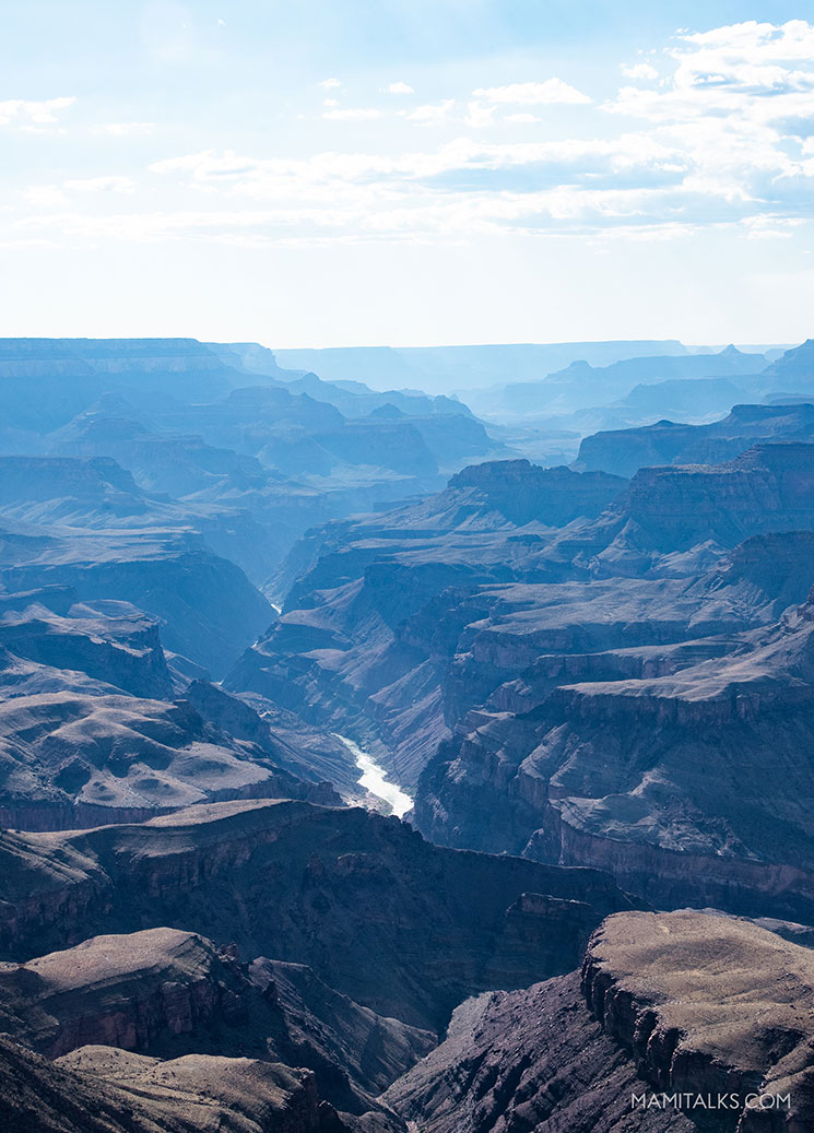 Grand Canyon view of the Colorado river. -MamiTalks.com