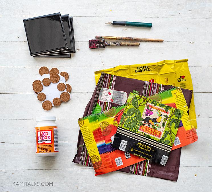 Tile coaster supplies. MamiTalks.com