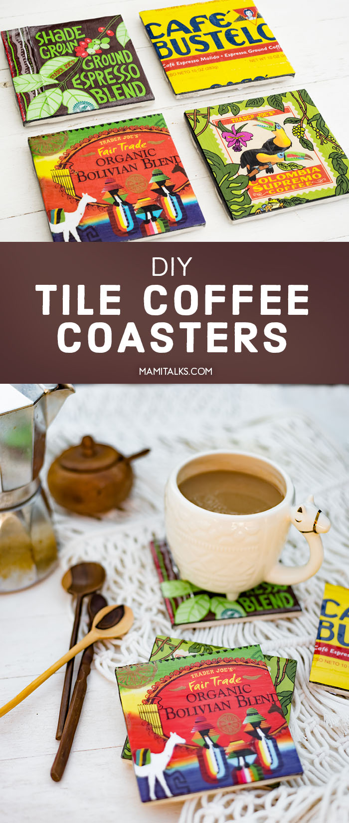 DIY coffee coasters. MamiTalks.com