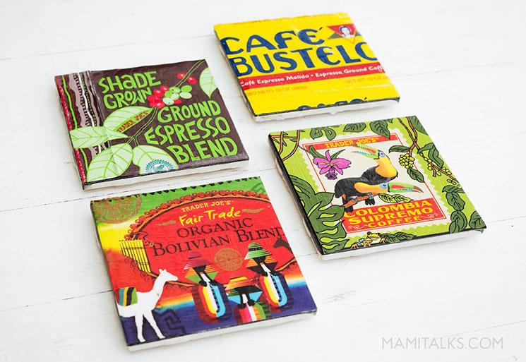 Coffee Tile Coasters. MamiTalks.com