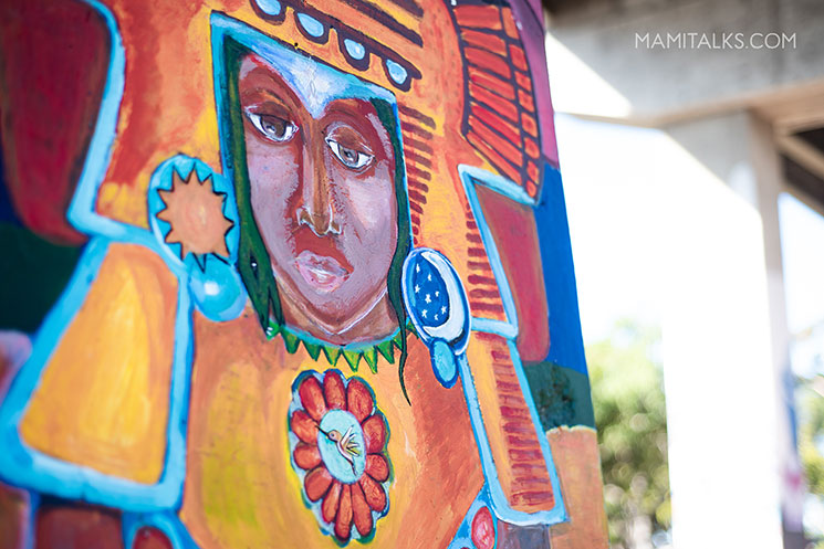 Closeup of art at Chicano Park San Diego. -MamiTalks.com