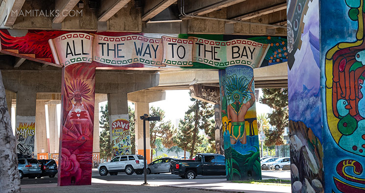 "Mural ""All the way to the Bay' in Chicano Park. -MamiTalks.com"