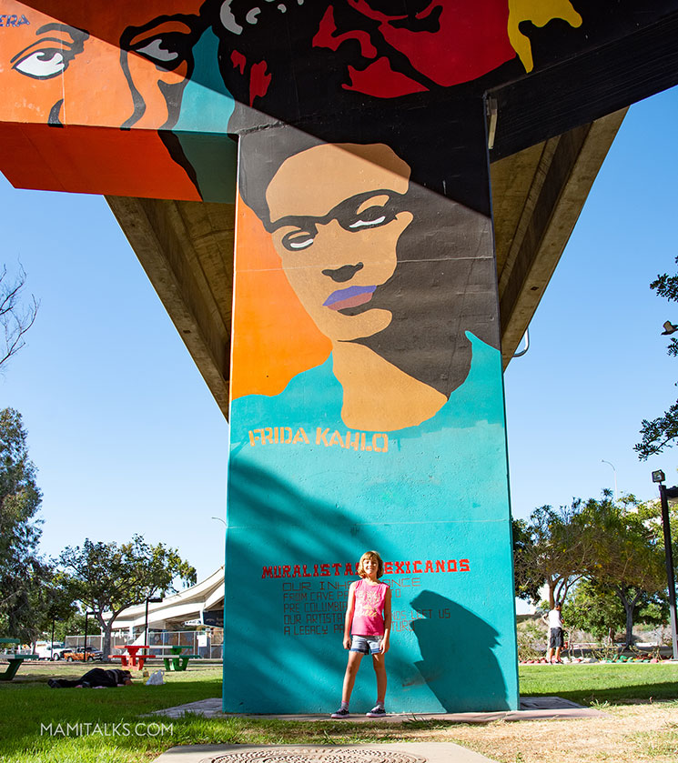 Frida art in Chicano Park San Diego. -MamiTalks.com