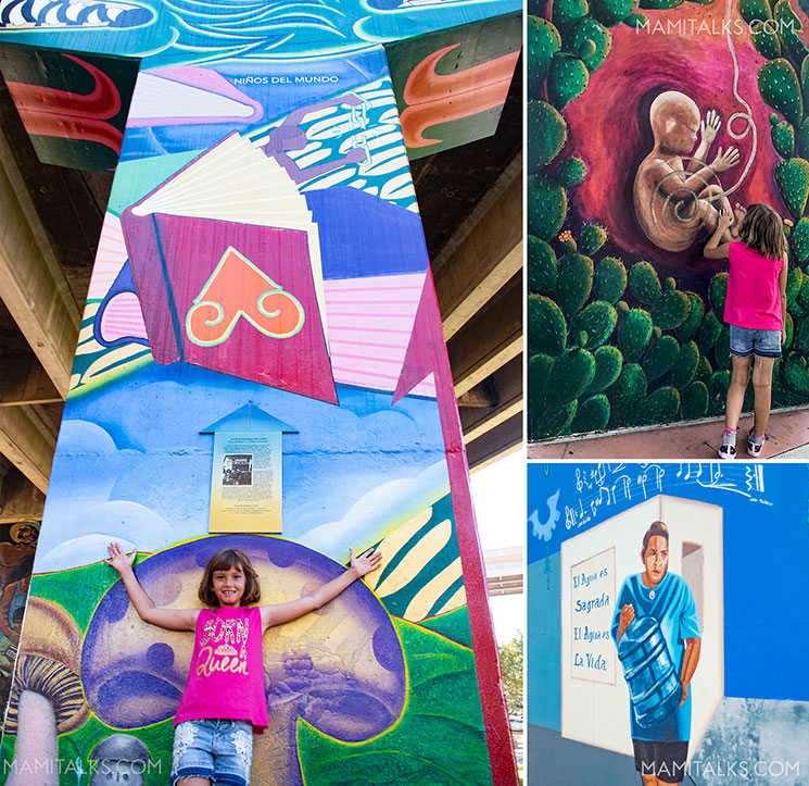 Collage of beautiful art from Chicano park. -MamiTalks.com