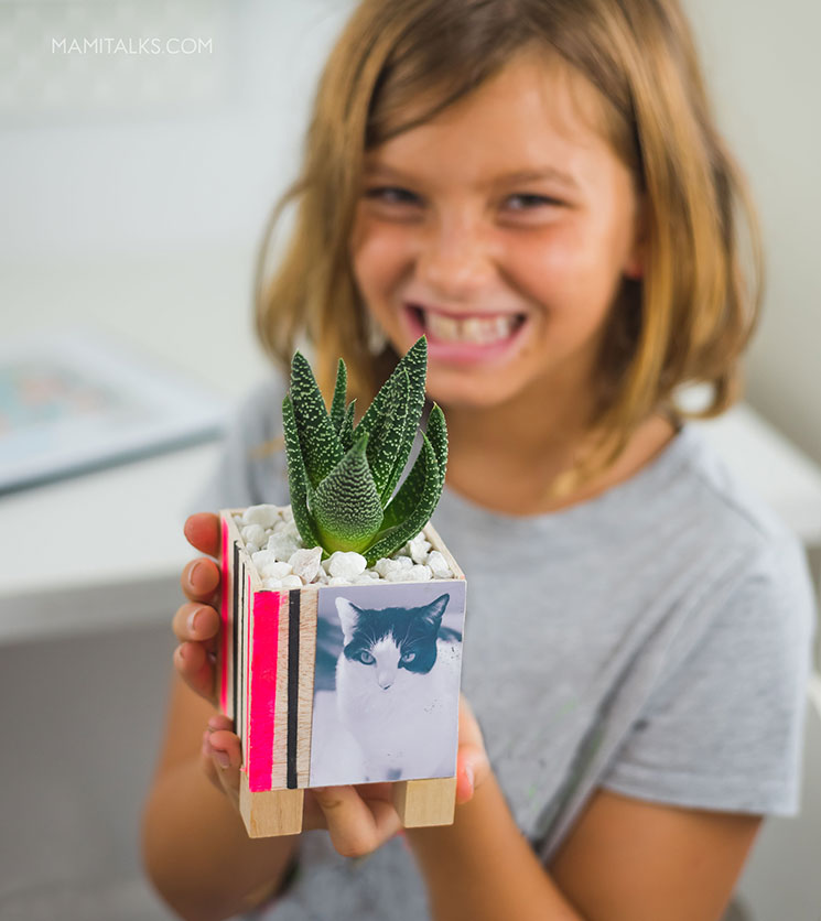 DIY photo planter for kids. MamiTalks.com