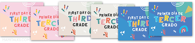 First day of school signs printables. MamiTalks.com