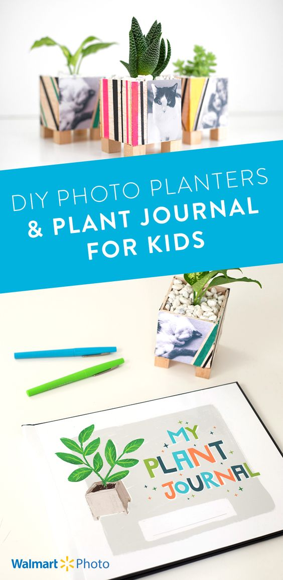 Photo planters and plant journal printable. MamiTalks.com