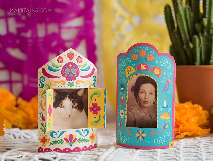 Día de muertos nichos made with paper. -MamiTalks.com