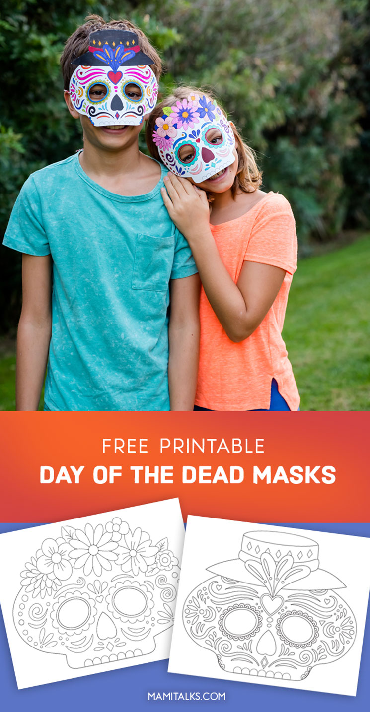 Printables for day of the dead masks. MamiTalks.com