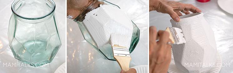 Holiday card holder, painting a vase. -MamiTalks
